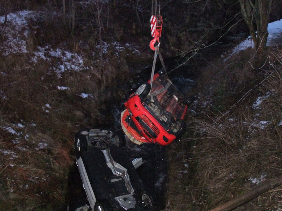 Nehoda u obce Celná - Sobětice.