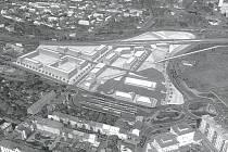 Chomutovské hlavní nádraží by se mohlo přesunout do místa dnešních uhelných skladů na pomezí ulic Wolkerova a Lipská.