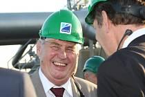 Prezident Miloš Zeman na návštěvě v Jirkově a Chomutově.