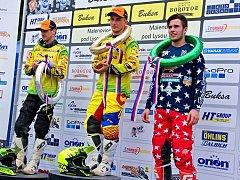 Jakub Terešák (vpravo) vybojoval v první jízdě třetí místo