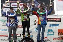 Jakub Terešák na druhém místě v kategorii 125 ccm.