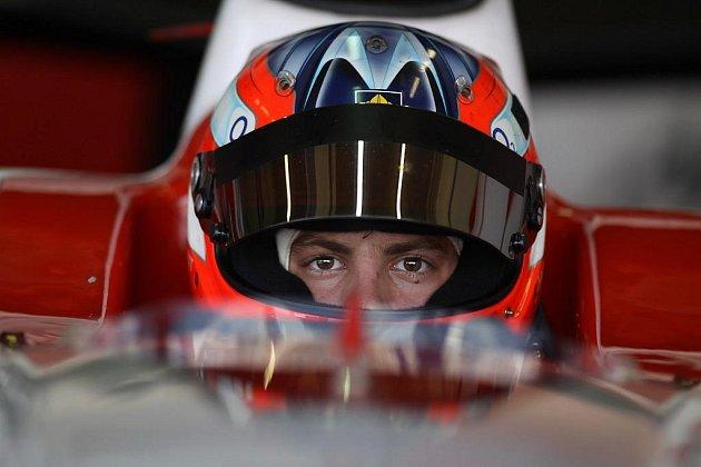 Jan Charouz při testech monopostu GP2 stáje ART Grand Prix.