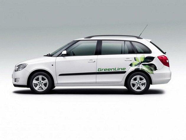 Nová Škoda Fabia greenline.