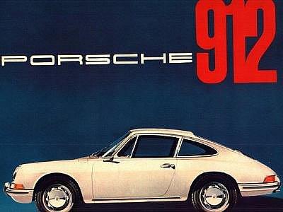 Dobový katalog Porsche 912 ze 60. let.
