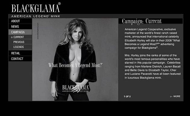 Stránky kožešnické firmy Blackglama