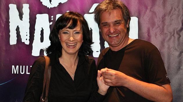 Casting muzikálu Naháči. Na snímku Daniela Šinkorová a Slávek Boura