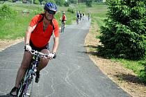 Na Horním Vsacku v pátek 3. června 2011 slavnostně otevřeli dokončenou Cyklostezku Bečva