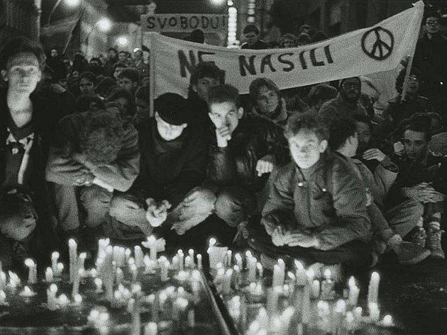 17. listopad 1989 objektivem Jana Šilpocha