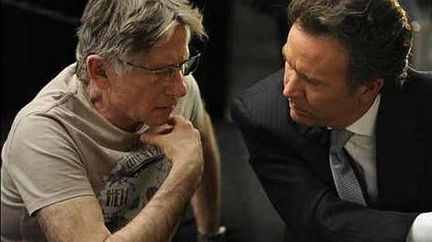 Roman Polanski při natáčení mysteriózního thrilleru Ghost Writer