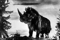 Záběr ze slavného Zemanova filmu Cesta do pravěku