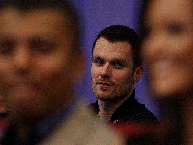 Tisková konference k jarnímu vysílání kanálů Nova, Nova Cinema, Nova Sport a MTV proběhla 1. února v Praze. Na snímku moderátor SuperStar Leoš Mareš.