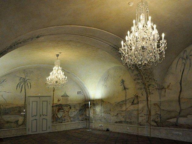 Nástěnná freska, na které byly nedávno dokončeny restaurátorské práce, je jednou z největších odkrytých nástěnných maleb v areálu Klementina