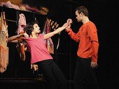 V české premiéře Cabaretu Ragtime na scéně plzeňského Komorního divadla se představila v sobotu jedenáctka tanečníků, mezi nimi Nela Mrázová a Petr Hos, na snímku.