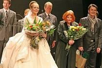 Snímek z premiéry Marie Stuartovny v Divadle na Vonohradech