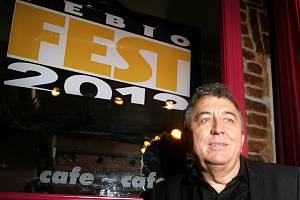 TK k 19. ročníku Mezinárodního filmového festivalu Febiofest 2012 se konala ve středu 22. února. Na snímku prezident festivalu Fero Fenič.