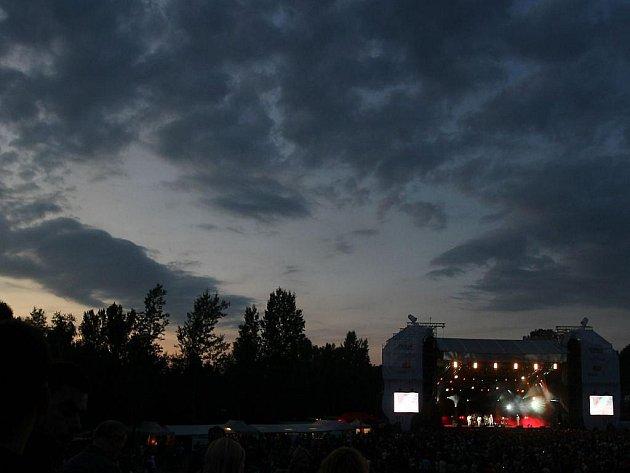 Snímek z letošního jubilejního festivalu Colours of Ostrava