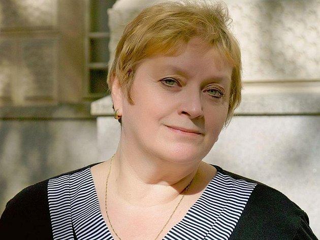 Jana Galinová, manažerka, herečka, autorka her a manželka režiséra Docela velkého divadla Litvínov Jurije Galina.