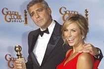 Zlaté glóby 2012: George Clooney s přítelkyní Stacy Keibler