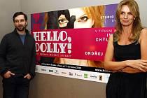 Ivana Chýlková a režisér Ondřej Sokol na tiskovce k připravované inscenaci Hello, Dolly