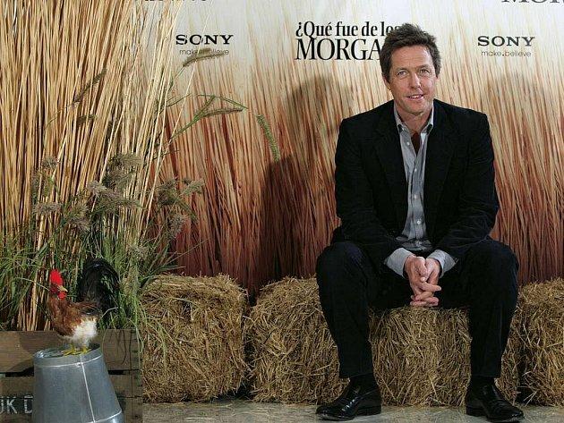 Hugh Grant na premiéře filmu Morganovi