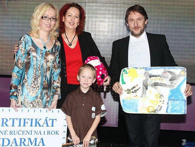 Splněné sny: Dita, Alice, Jakub a moderátor Jaroslav Mendel
