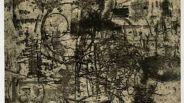 Grafika Vladimíra Boudníka ze sbírky Jana Placáka