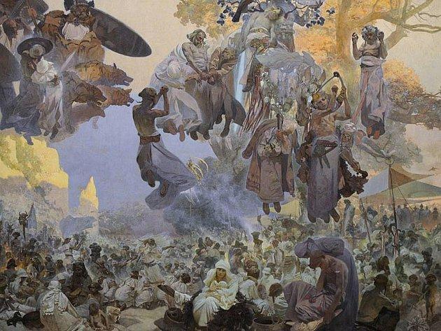 Alfons Mucha, Slovanská epopej, Slavnost Svantovítova na Rujaně