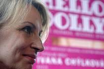 Představitelka hlavní role Ivana Chýlková 3. května na setkání s novináři v Praze před zahájením divadelních zkoušek muzikálu Hello, Dolly!