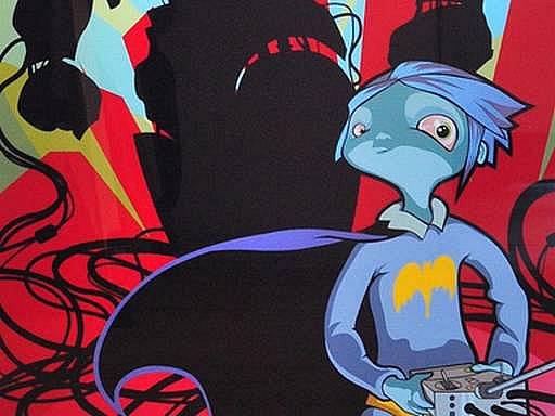 Ukázka z výstavy Childhood heroes