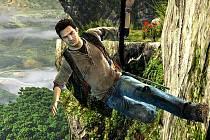 Počítačová hra Uncharted: Golden Abyss na PS Vita.