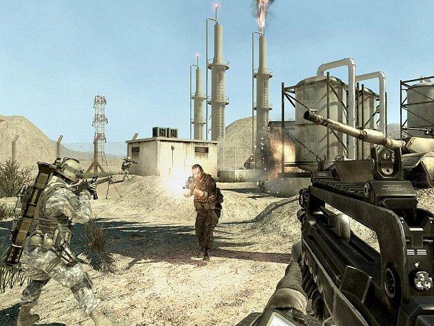 Počítačová hra Modern Warfare.