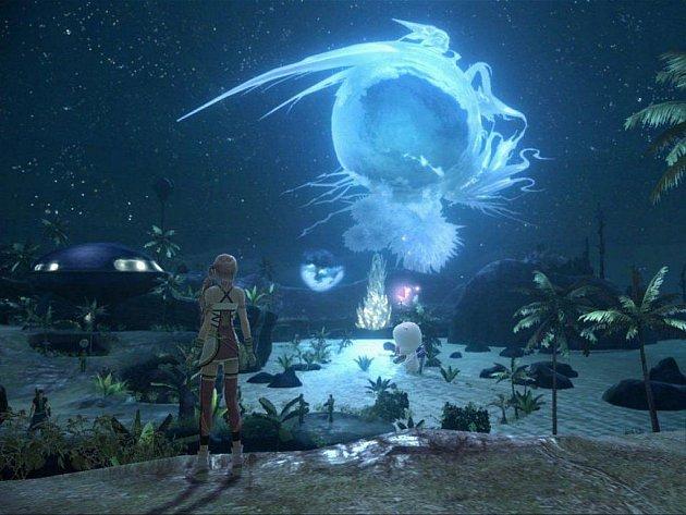 Počítačová hra Final Fantasy XIII-2.