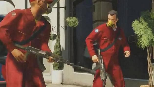 Počítačová hra Grand Theft Auto 5.