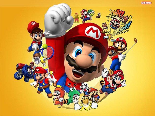 Počítačová postavička Mario.