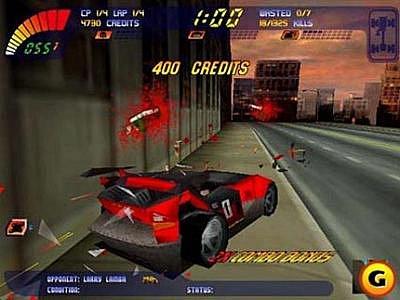 Počítačová hra Carmageddon.