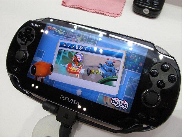 Přenosná herní konzole Playstation Vita od společnosti Sony.