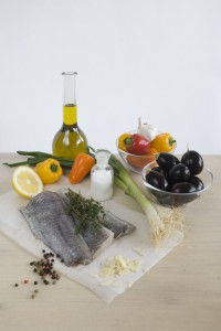 Ryba pecena se zeleninou - suroviny