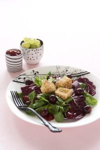 Salat se smazenym hermelinem