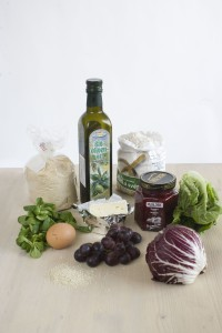 Salat se smazenym hermelinem - suroviny
