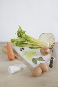 Zeleninova polevka - suroviny