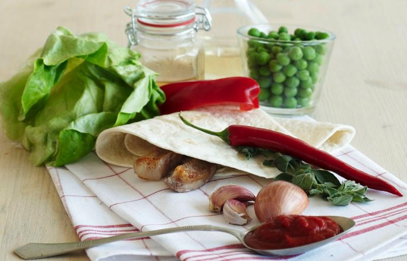 Chimichangas - tortila - suroviny