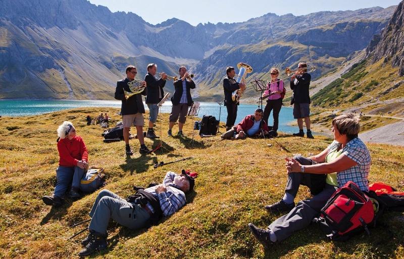 Berge hören - Sonus Brass Ensemble, Lünersee/Brandnertal