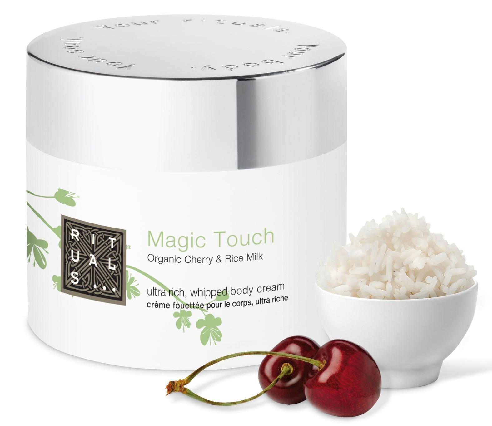 Rituals - Magic Touch třešeň&rýžové mléko-tělový krém, ultra-rich, zláčňující, zpevňující, 200ml, cena 419Kč
