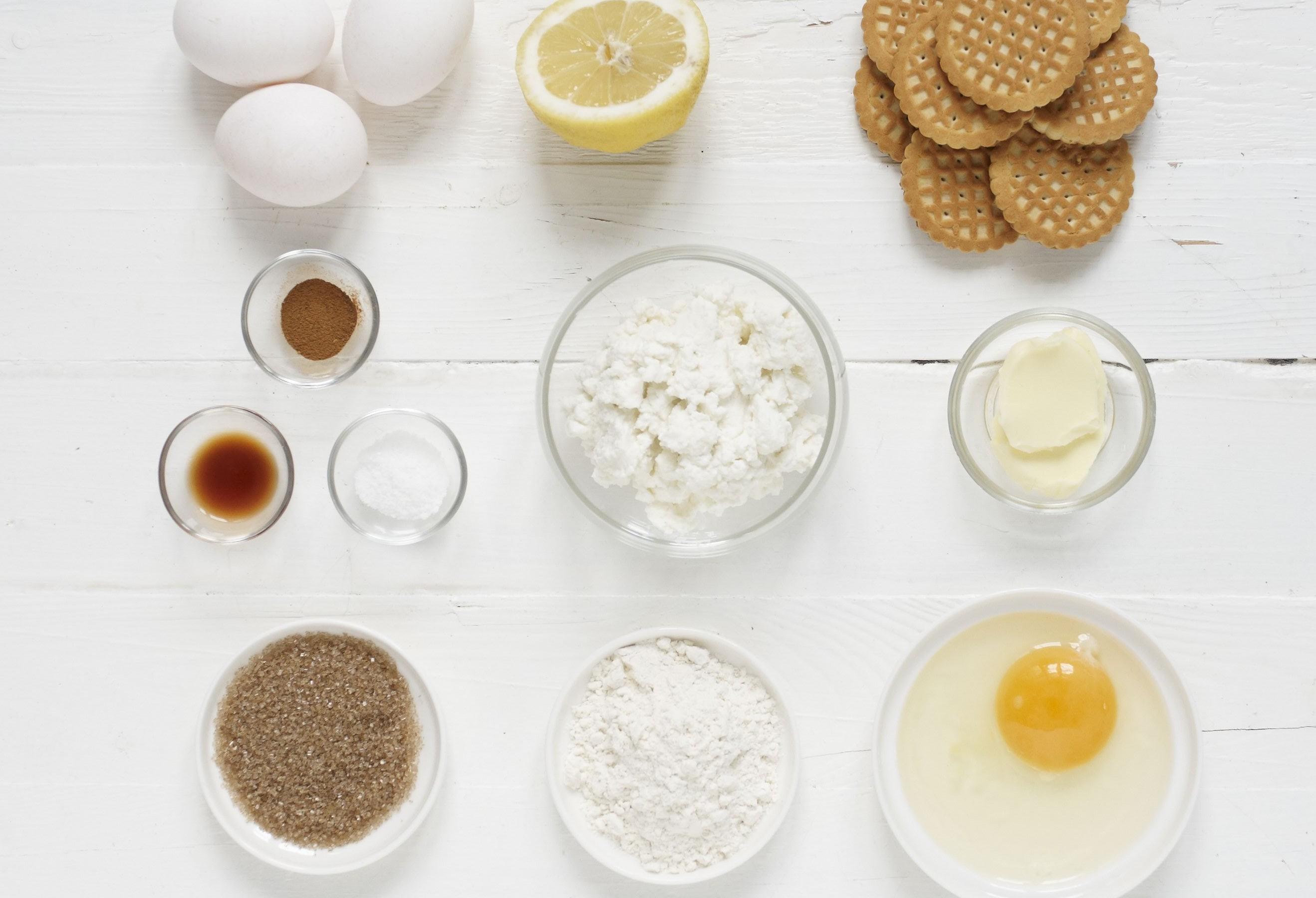 tvarohove kolacky - suroviny