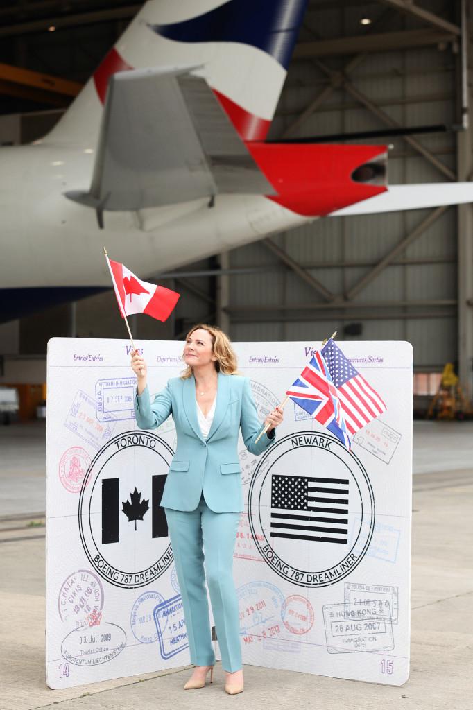 Kim Cattrall welcomes British Airways' 787