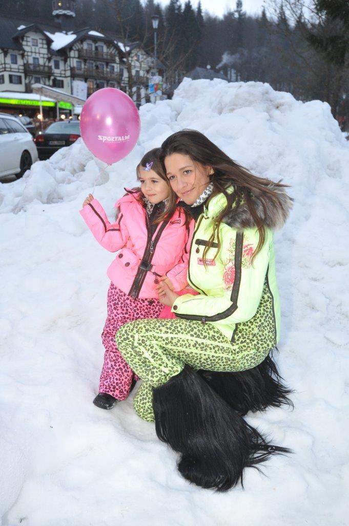 Petra Faltýnová zimní radovánky miluje stejně jako její dcerka.