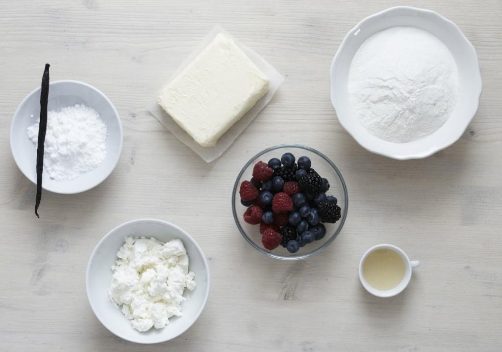 Ovocne tasticky - suroviny