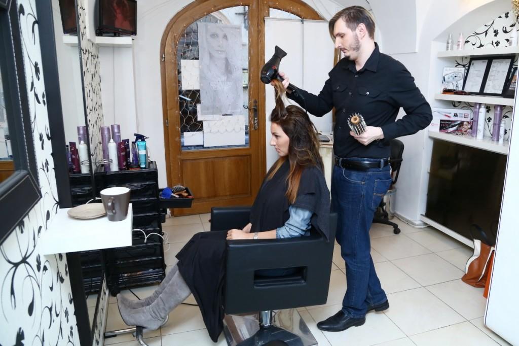 Modelka se svým kadeřníkem Martinem Zifčákem