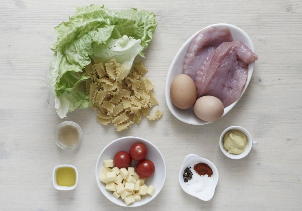 Zeleninovy salat skrutim masem - suroviny
