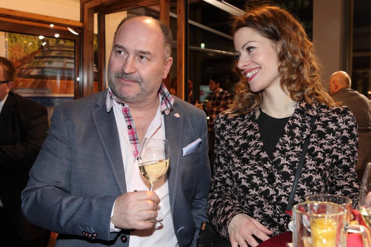 Na party firmy Alukov, která je partnerem Cen Thálie, se Holišová setkala také sMichalem Davidem.